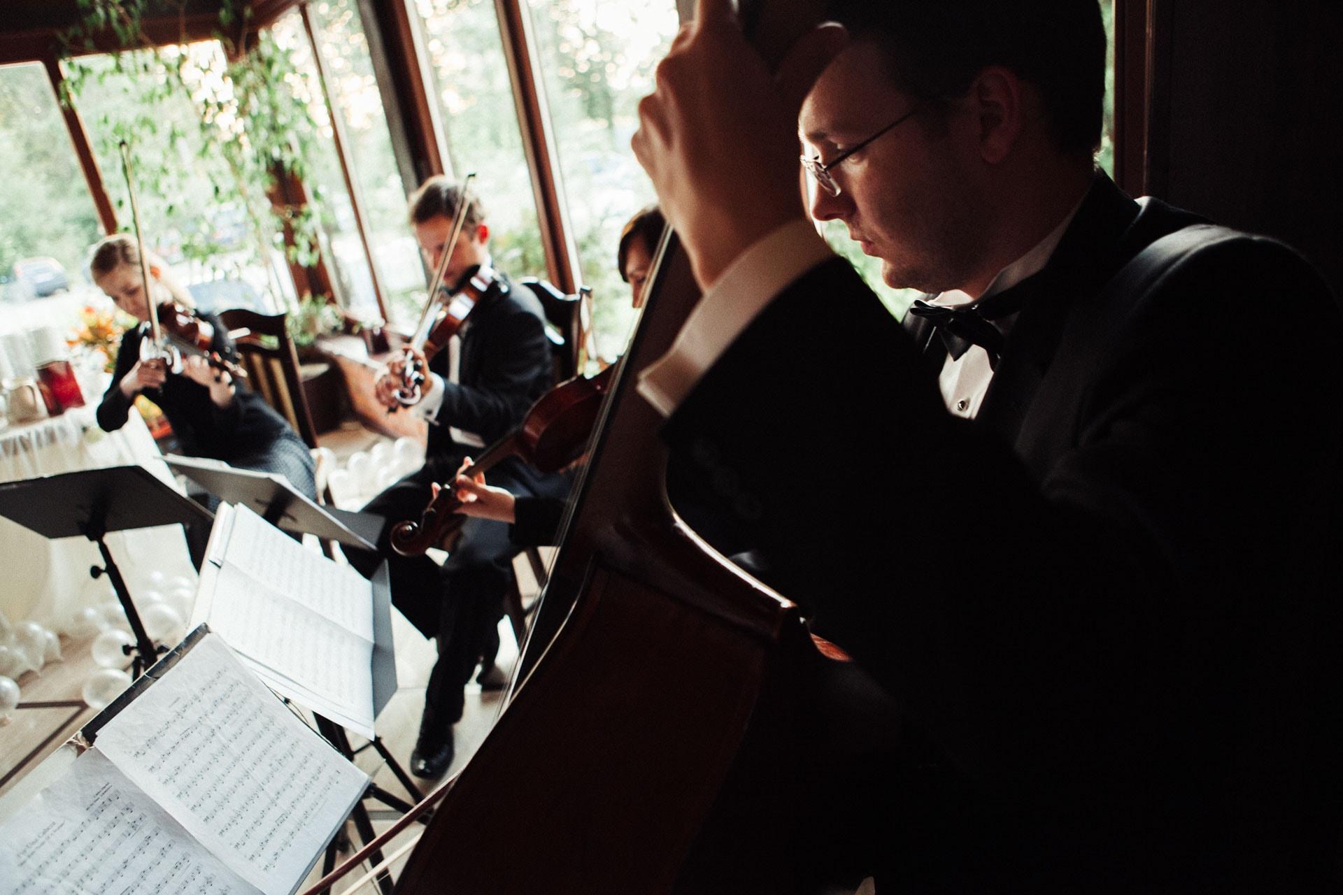 ślub bez wesela kwartet smyczkowy